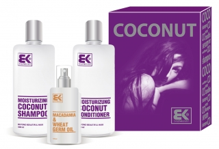 BK Brazil Keratin Coconut Set (šampón 300ml+kondicionér 300ml+oil 100ml