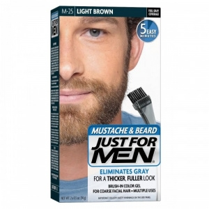 Gélová farba na bradu a fúzy - Just For Men Moustache & Beard M25 - Light Brown